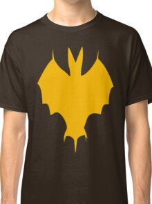 Orange-Yellow Silhouette Of a Bat  Classic T-Shirt