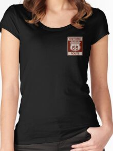 LAQUEY Route 66 Women's Fitted Scoop T-Shirt