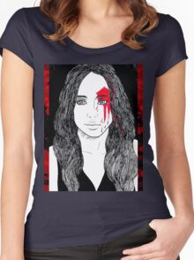 Fear Alicia Clark Women's Fitted Scoop T-Shirt