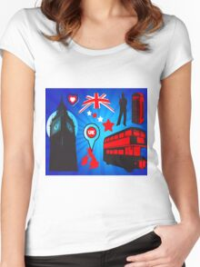 United Kingdom 2 Women's Fitted Scoop T-Shirt