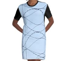 Barby Wire Graphic T-Shirt Dress