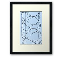 Barby Wire Framed Print