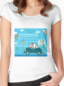 Airport Women's Fitted Scoop T-Shirt