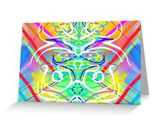 Abstract Symmetry Greeting Card