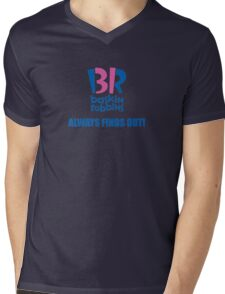 Baskin Robbins Always Finds Out! Mens V-Neck T-Shirt