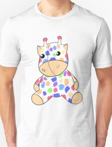 Rainbow Giraffe Plush Unisex T-Shirt