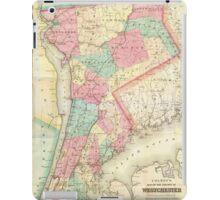 Vintage Map of Westchester New York (1864) iPad Case/Skin
