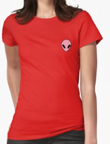 pink alien Womens Fitted T-Shirt