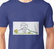 Lamb Watering Flowers Unisex T-Shirt