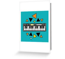 Music keyboard Greeting Card