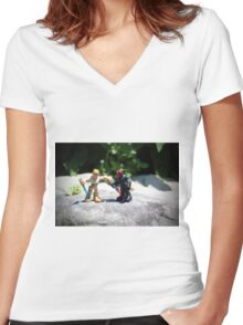 Action Figures Women's Fitted V-Neck T-Shirt