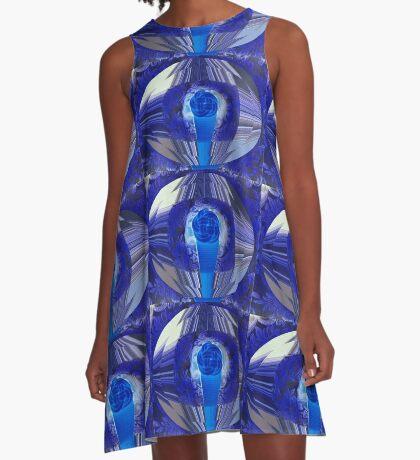 Blue Eye A-Line Dress