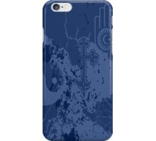 Organic Religion (blue) by Cal-and-Ra iPhone Case/Skin