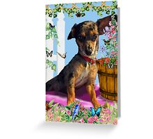 Vixen In The Fantasy GIMP Garden Greeting Card