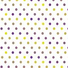 Purple and Gold Gradient Polka Dots by StudioBlack