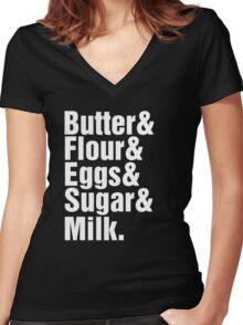 Baker Cake Decorator - Beatles Parody Women's Fitted V-Neck T-Shirt