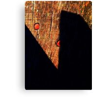 Shadow scissors Canvas Print