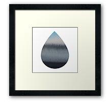 Tear Drop Framed Print