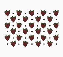 Strawberries and Black Polka Dots Kids Clothes