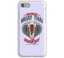 monkon muay thai cobra thailand martial art sport logo light or white shirt iPhone Case/Skin