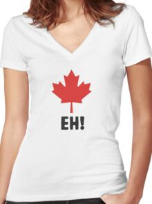 Canada EH! Make every day Canada day Women's Fitted V-Neck T-Shirt