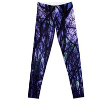 Dark Purple Forest Leggings