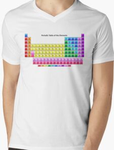 Shiny Periodic Table of the Chemical Elements Mens V-Neck T-Shirt