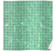 Pool Grid (Green) Poster