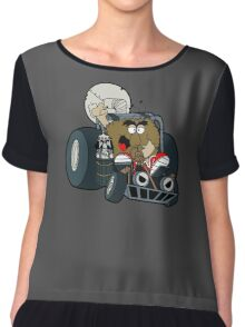 Murky and Lurky Cruise Round In Their Doom Buggy Chiffon Top