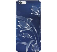 Blue Lilies in the Moonlight iPhone Case/Skin
