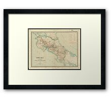 Vintage Map of Costa Rica (1903) Framed Print