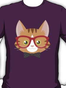 Orange Tabby Hipster Cat T-Shirt