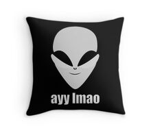 Ayy Lmao Grey Throw Pillow