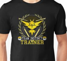Pokemon Go | Team Instinct Trainer | Black Background | HUGE | New! | High Quality! Unisex T-Shirt