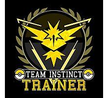 Pokemon Go | Team Instinct Trainer | Black Background | HUGE | New! | High Quality! Photographic Print