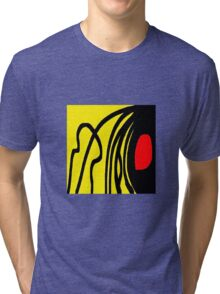 Color red yellow black Tri-blend T-Shirt
