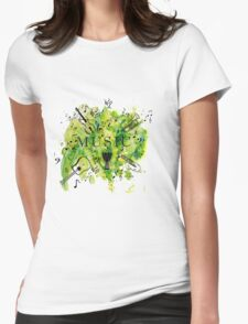 Music Symphony  Womens Fitted T-Shirt