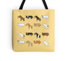 Lazy Bull Terrier - Yellow Tote Bag
