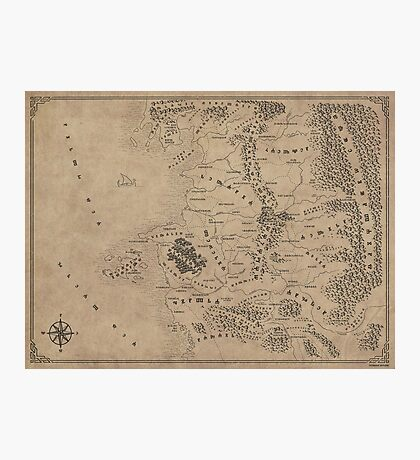 Witcher Universe Map - Glagolitic Photographic Print