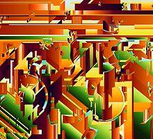 Alien City Puzzle 5 by pennydigital