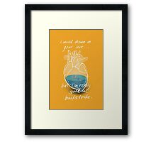Drowning in Your Love Framed Print