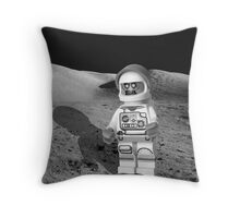 Zombie Astronaut Spaceman Brick Minifigure Throw Pillow