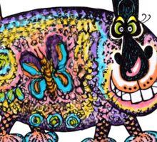 Flowerpower Kittycat Sticker