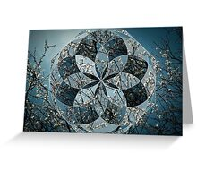 Tree Blossoms Geometric Collage 1 Greeting Card