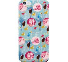 Kitten summer pattern iPhone Case/Skin