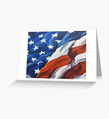 American Flag - Country First Greeting Card