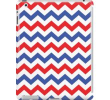 Red, White and Blue Chevron Pattern iPad Case/Skin