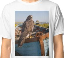 Common Buzzard on Lindisfarne Classic T-Shirt