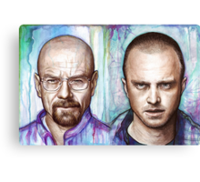 Walter and Jesse - Breaking Bad Canvas Print