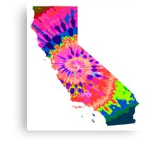 Tiedye California Canvas Print